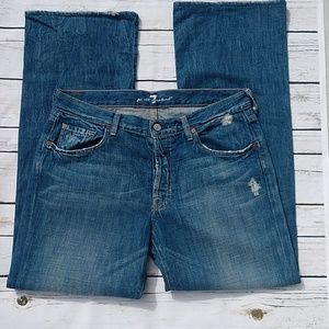 7 For All Mankind Relaxed Button Front Jeans